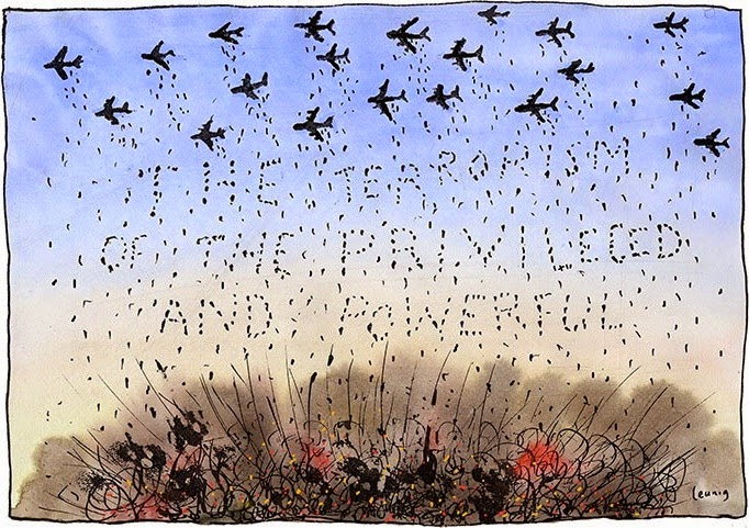 Michael Leunig: Terrorism of the Privileged and Powerful.