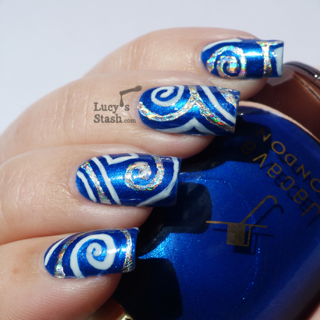 Lucy's Stash - nail art with nail foil and Jacava polishes