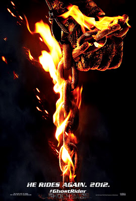 Ghost Rider 2 Spirit of Vengeance 2012 Movie Poster Hand with Flaming Chain HD Wallpaper