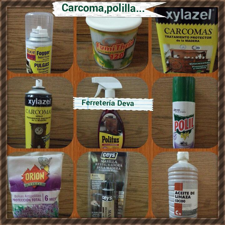 Ferreteria deva combatir la carcoma polilla - Acabar con la carcoma ...