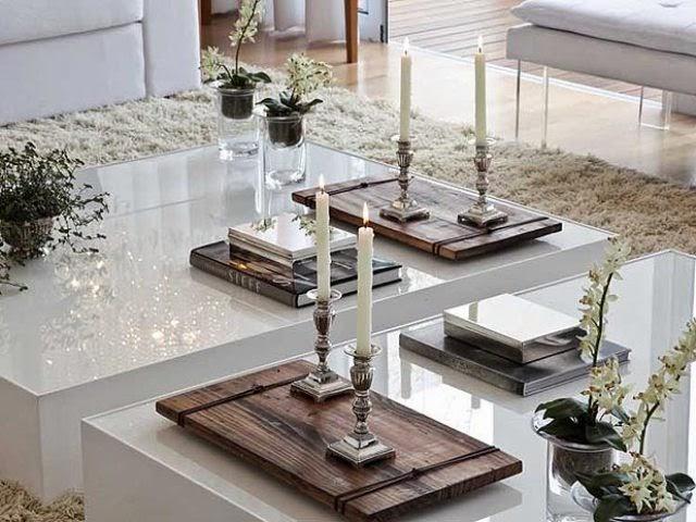 Magia pela arte mesa de centro como decorar for Modelos de mesas de centro de sala