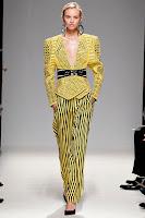 Раиран широк панталон в жълто и черно на Balmain