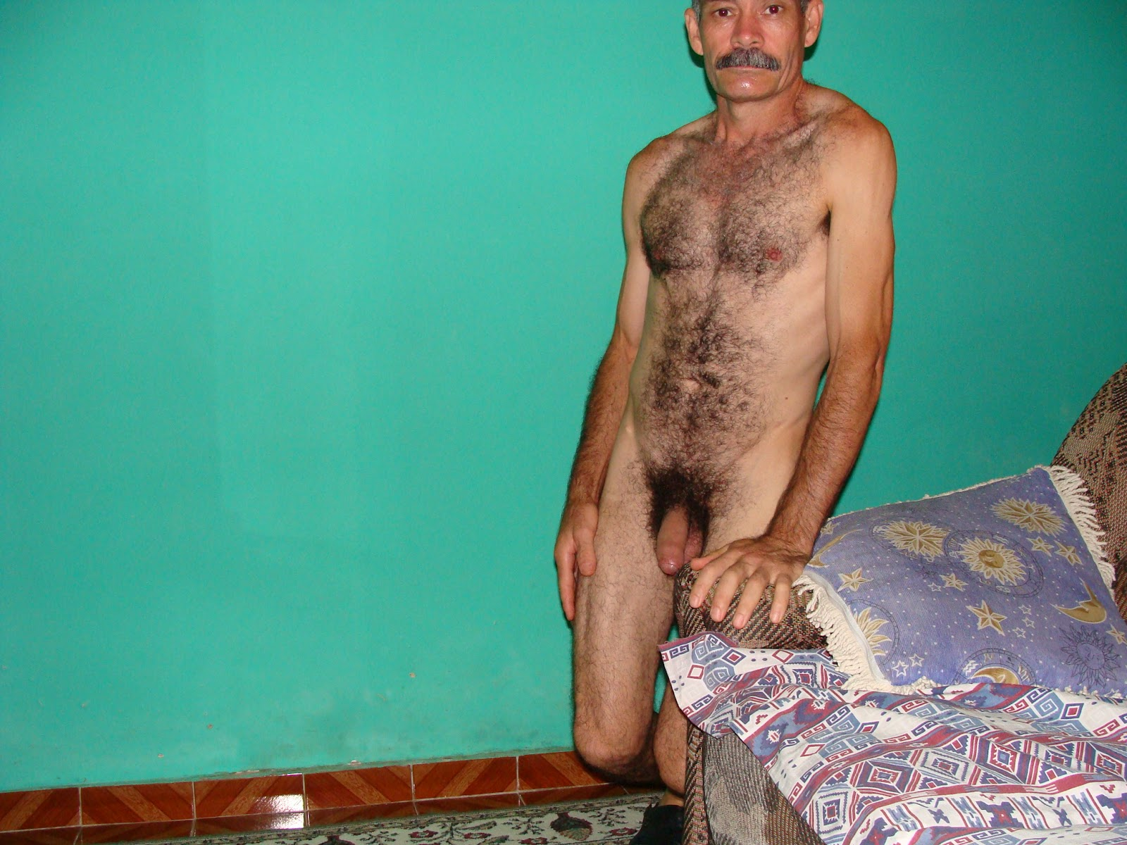 Man having old Hairy sex naked