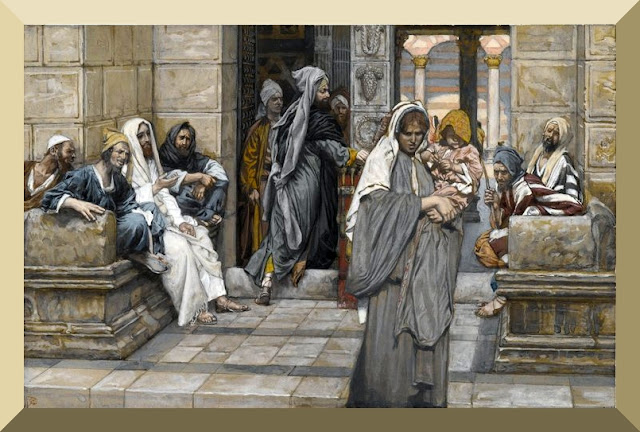 """""""The Widow's Mite"""" -- by James Tissot"""