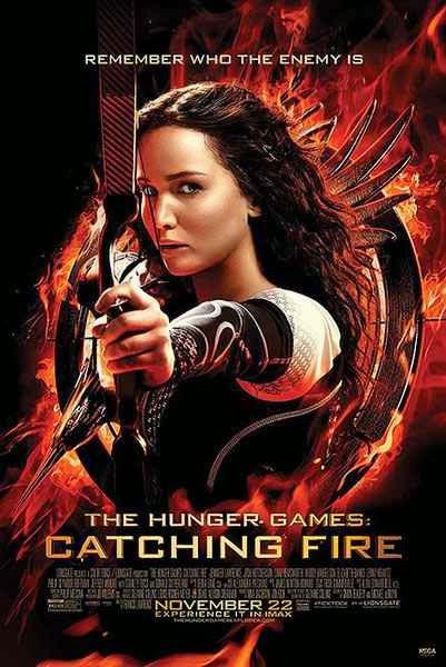 Poster Katniss Disparando En Llamas