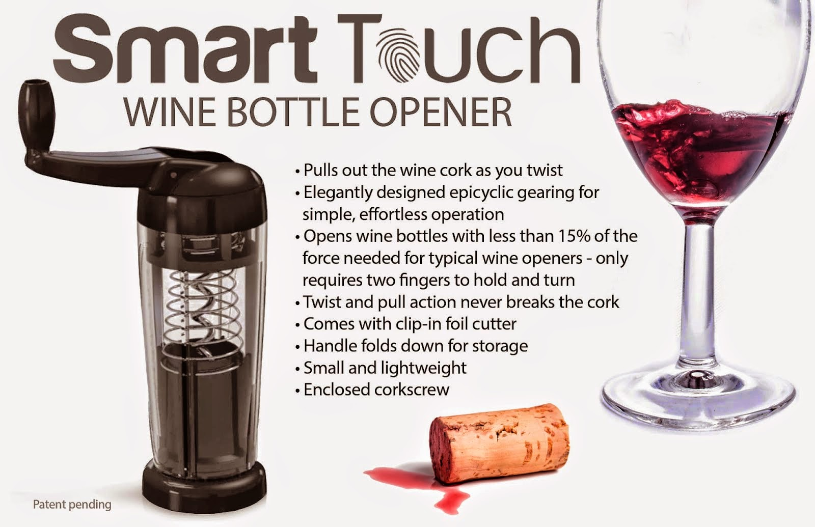 Enter to win the Smart Touch Wine Opener Giveaway. Ends 7/31.