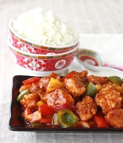 easy sweet and sour chicken recipe with rice
