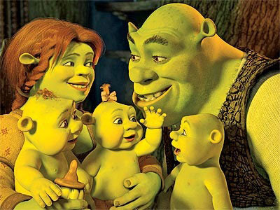 Shrek's family Shrek Forever After 2010 animatedfilmreviews.blogspot.com