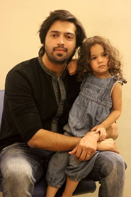 Fahad Mustafa with his daughter Fatima