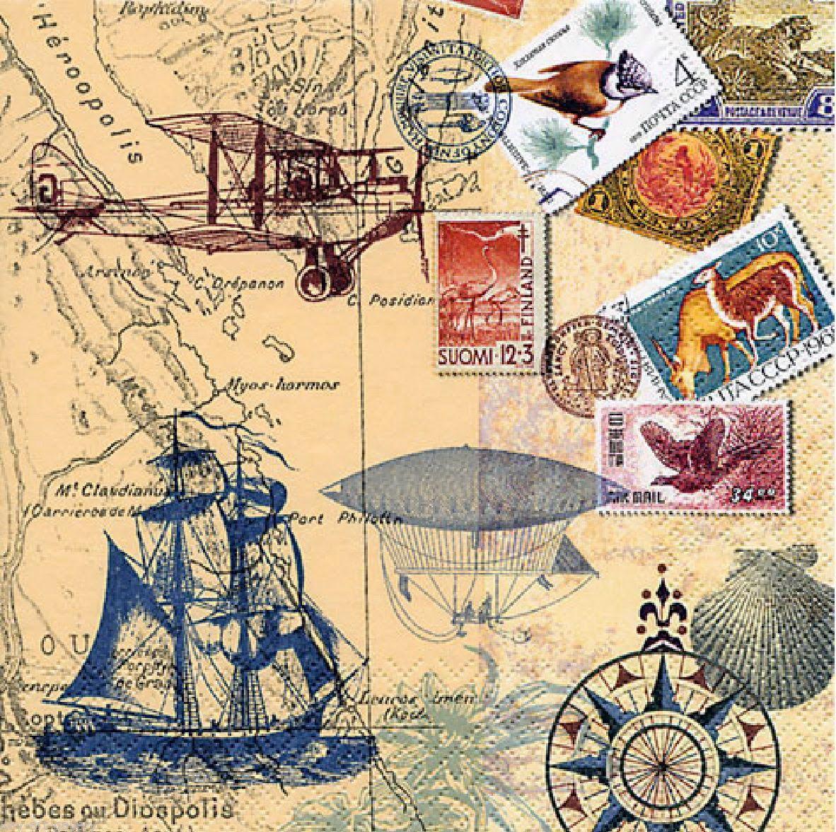 Imprimolandia Decoupage Paper Travel