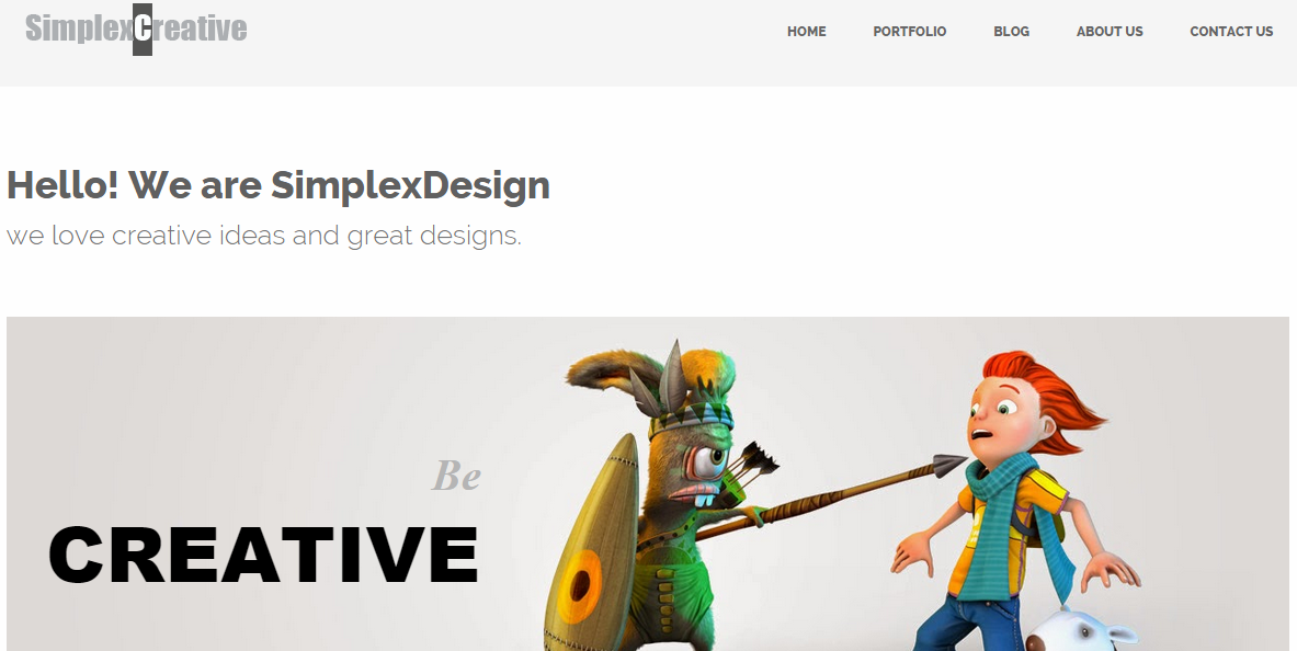 Download SimplexCreative Responsive Business Free Blogger Template