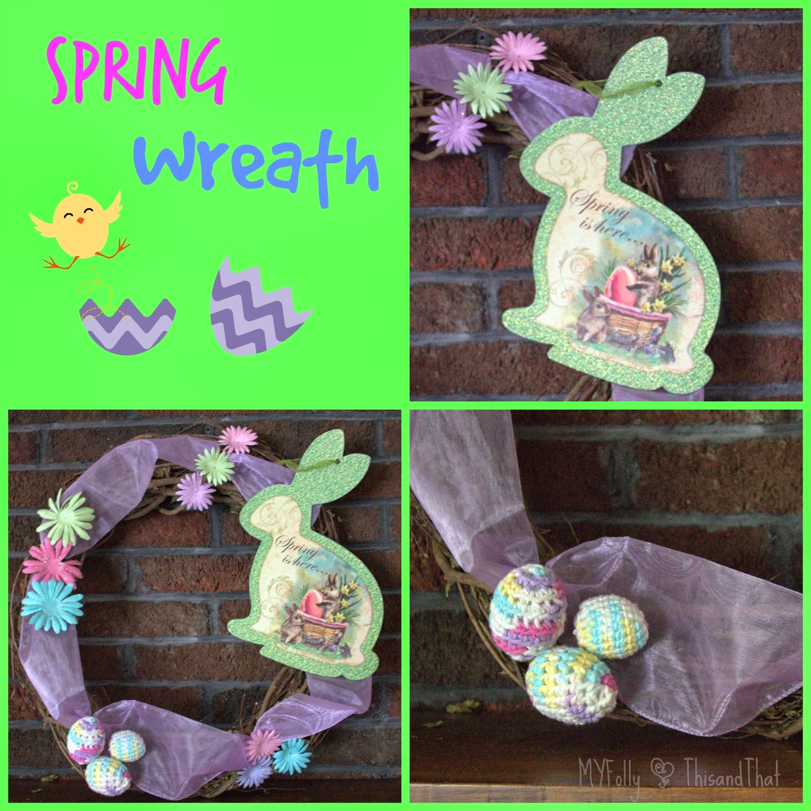 Decorating with Crochet Easter Eggs ~ This and That #crochet #easter #spring #crafts