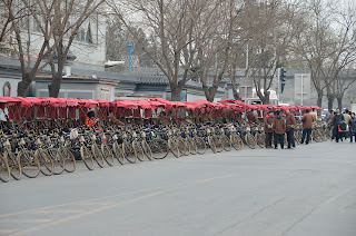 Pedicabs for hutong tours at Houhai in Beijing
