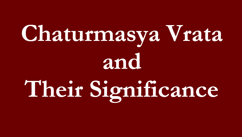 Text Image: Chaturmasya Vrata and Their Significance in Fast paced life