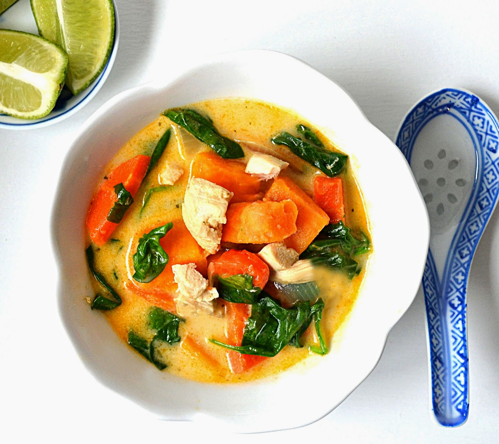 Sew French: Thai Chicken Coconut Soup With Sweet Potatoes