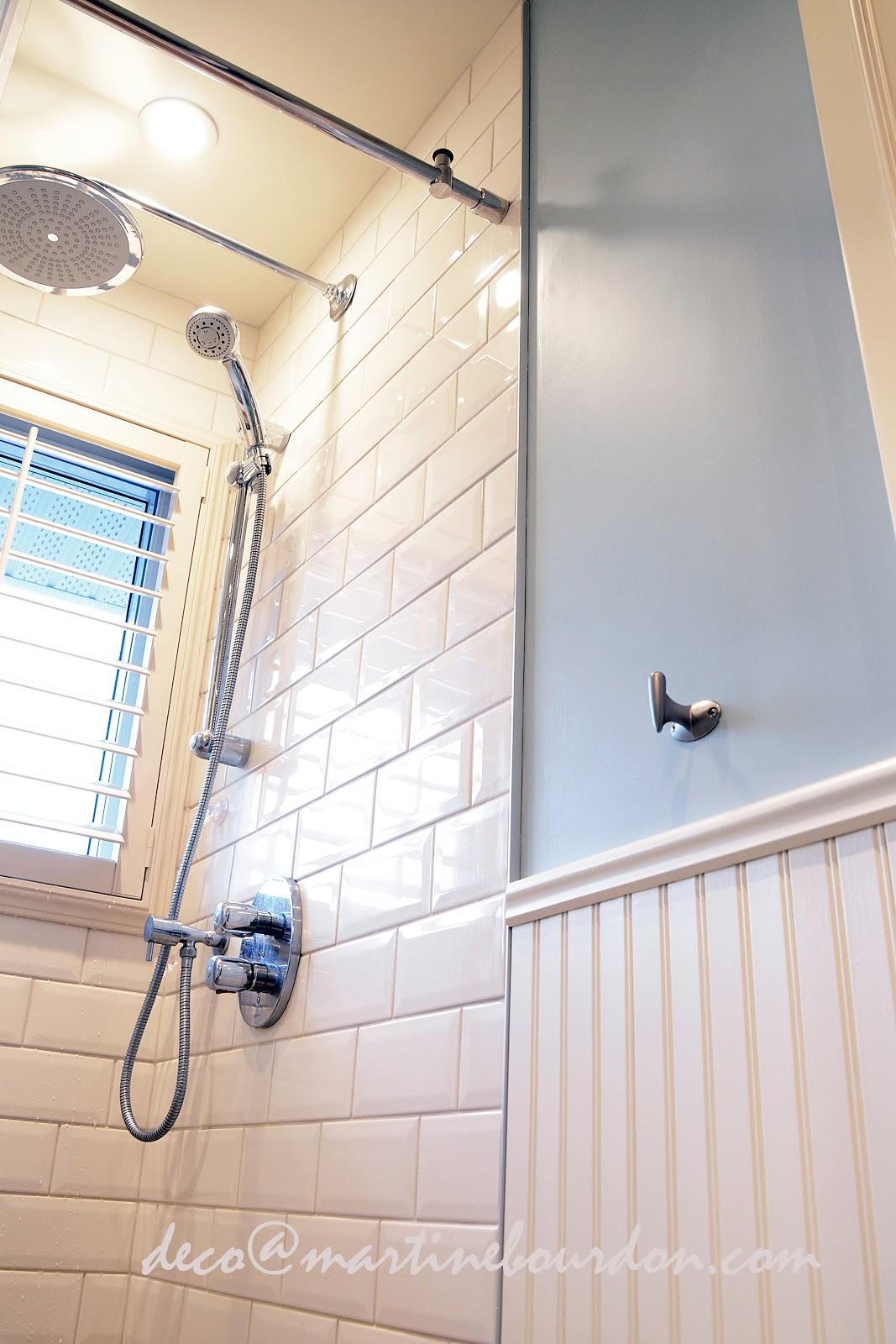 L 39 espace d co avant apr s une salle de bain champ tre au for Salle de bain ceramique photo