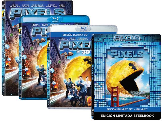 A la venta 'Pixels' en DVD, Blu-ray y 3D, además de edición metálica y coleccionista
