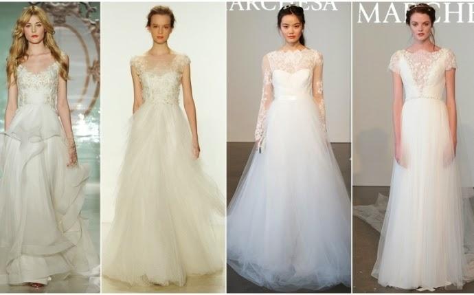 Xu hướng váy cưới mùa xuân 2015
