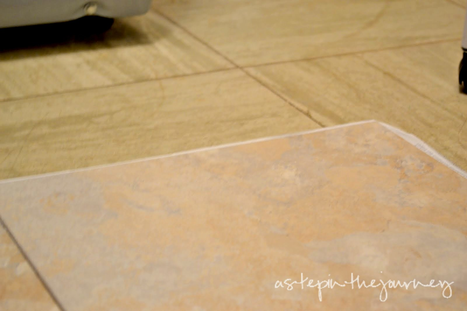 Peel stick tile ahzing that is until i found this post from thriftydecorchick so me and my right hand man and i got to work dailygadgetfo Image collections