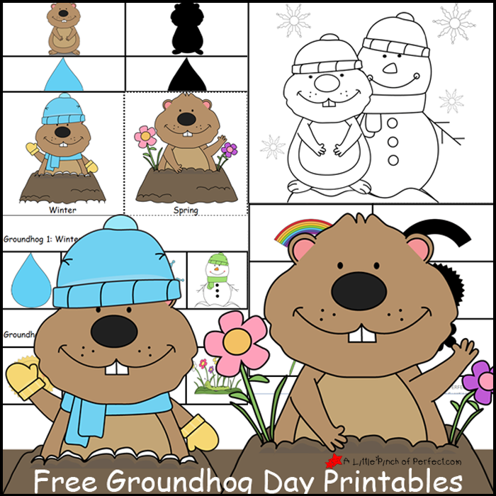 groundhog day free printables coloring pages