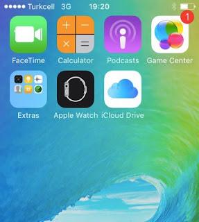 iCloud Drive uygulaması.