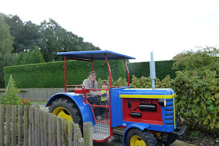 Tractor ride with our toddler at Peppa Pig World, Paultons Park