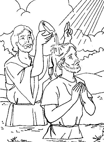 EL BAUTISMO DE JESUS para colorear - Imagui