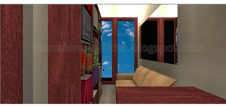 penataan rumah hasil renovasi tipe 36 tanah 90 lantai 2