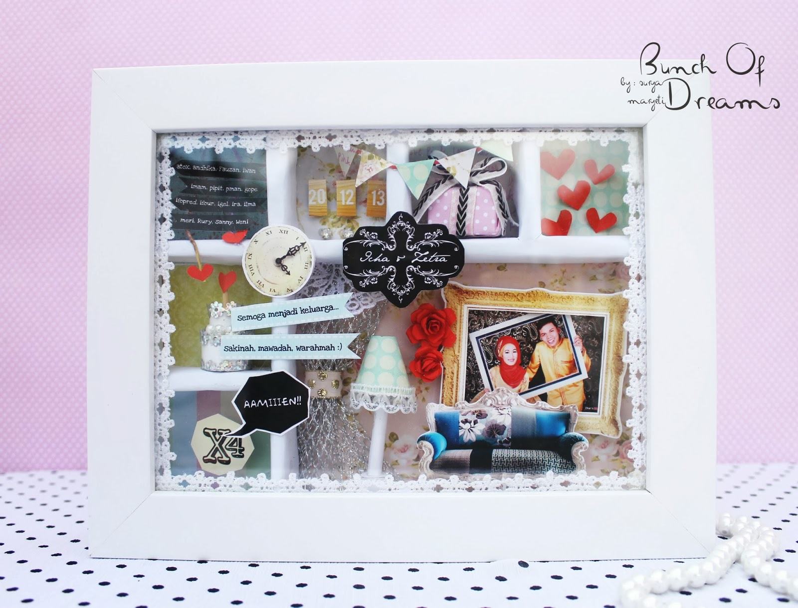 Bunch of dreams: Shadow Box : Wedding Gift
