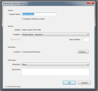 Tethered Capture Settings