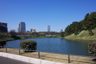 Imperial Palace gardens in Tokyo
