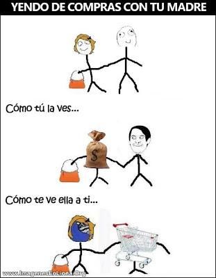 Yendo de compras con tu madre