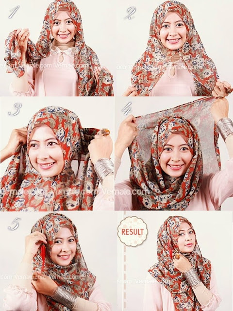 cara memakai hijab ala elzatta