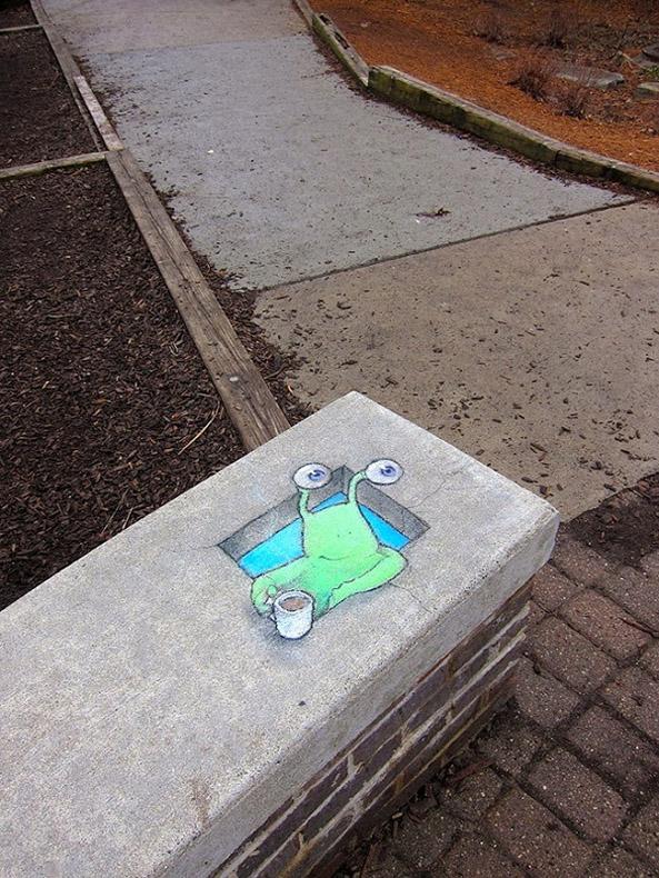 Adorable arte callejero por David Zinn