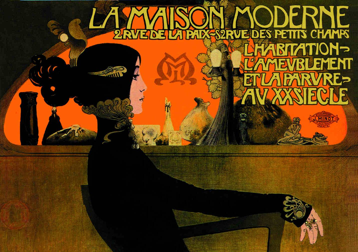 Having a look at history of graphic design art nouveau in for La maison moderne