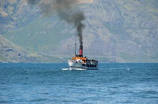 TSS Earnslaw on Lake Wakatipu in Queenstown, NZ