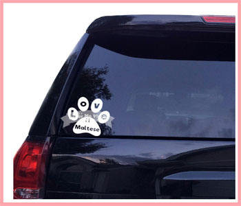 Love Paw Breed Car Decal