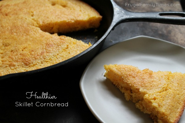 Recipe: Healthier Skillet Cornbread | Frugal Family Times
