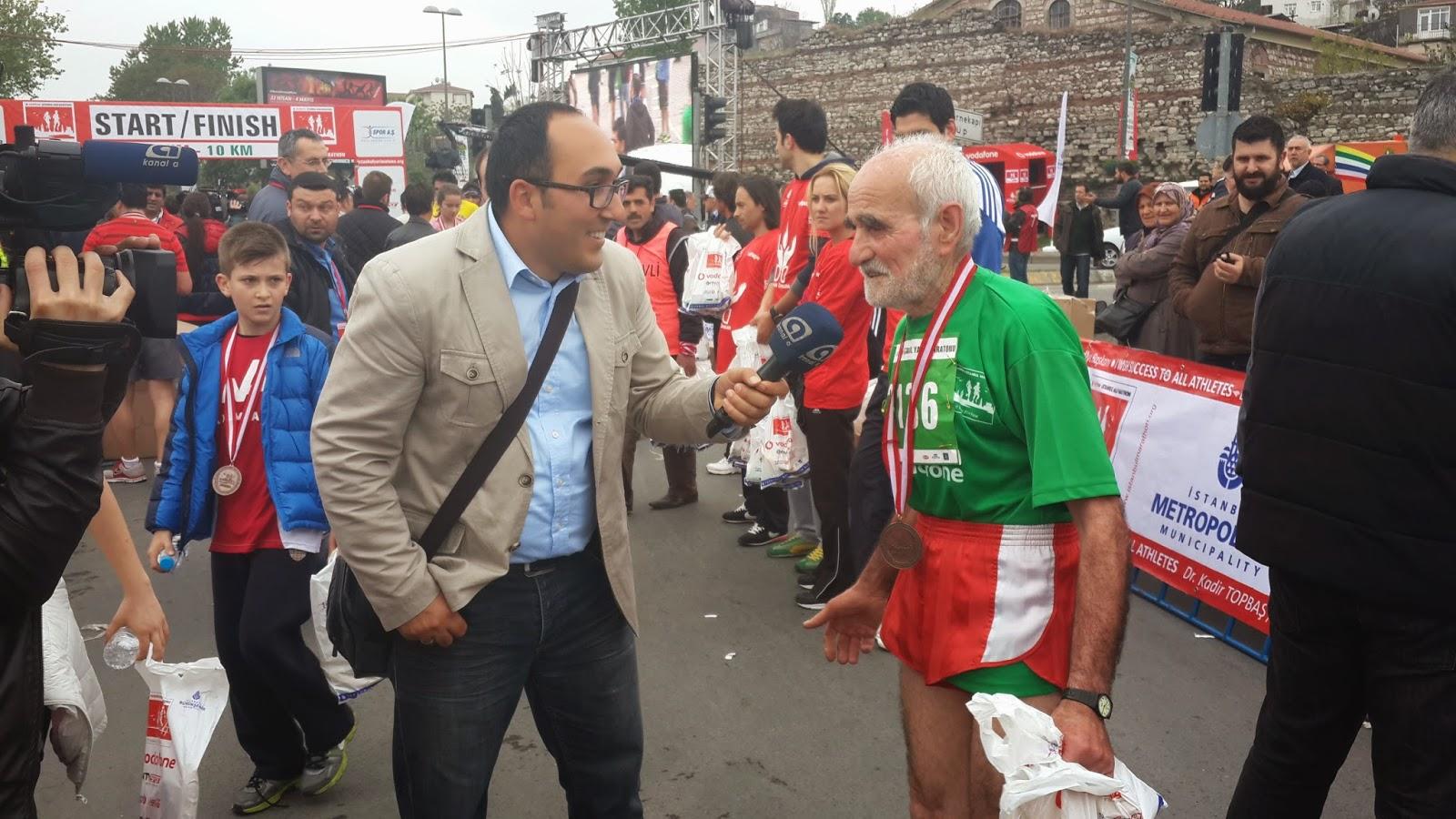 Vodafone Yarı İstanbul Maratonu 2014 Nisan 70-74 yaş yaşlı sporcu