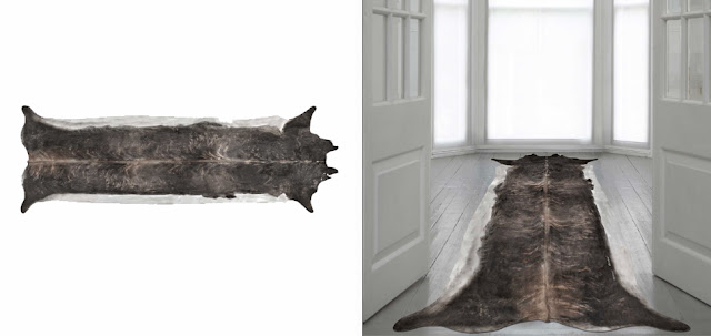 Young & Battaglia stretched cowhide rug