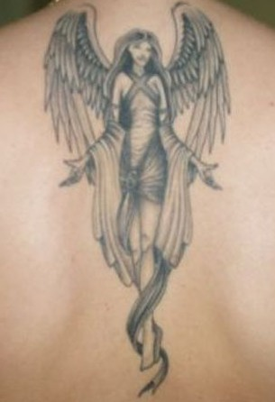 cute angel tattoo design