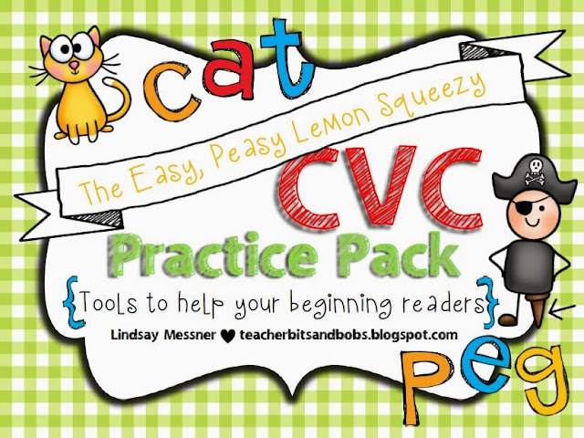 http://www.teacherspayteachers.com/Product/Easy-Peasy-Lemon-Squeezy-CVC-Practice-Pack-781876