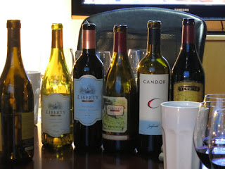 Lineup of Hope Family Wines