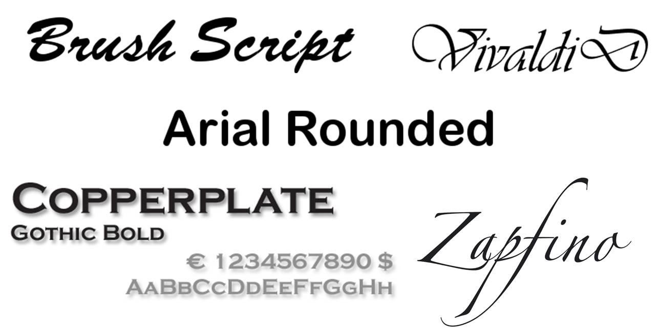 Tipografias de letra no recomendables para tu marca personal. Esmeralda Diaz-Aroca