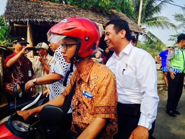 Irit BBM, Menteri Pertanian Blusukan di Pekalongan Naik Motor