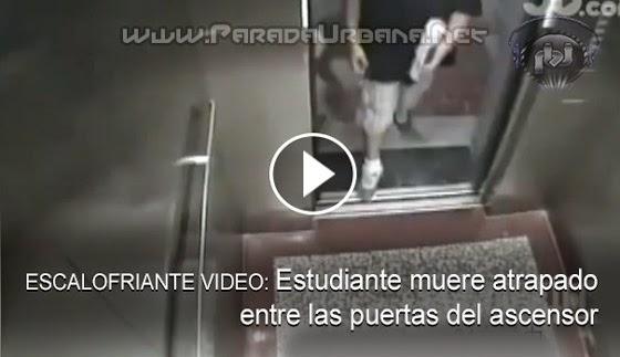 ESCALOFRIANTE VIDEO: Un Joven es atrapado por las puestas de un ascensor, que arrancó antes de cerrarse