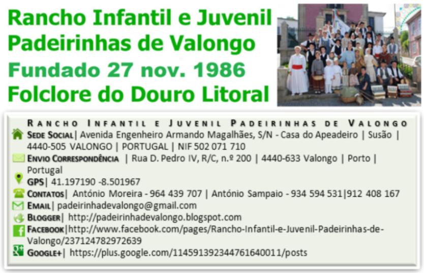 Rancho Infantil e Juvenil Padeirinhas de Valongo