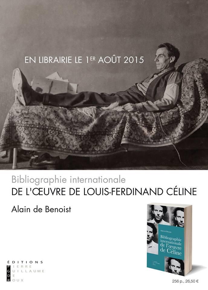 Bibliographie internationale de l'oeuvre de Céline, éd. PGDR