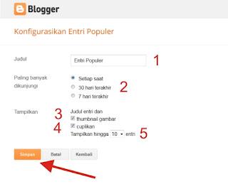 Memasang Widget Artikel Terlaris di Blog