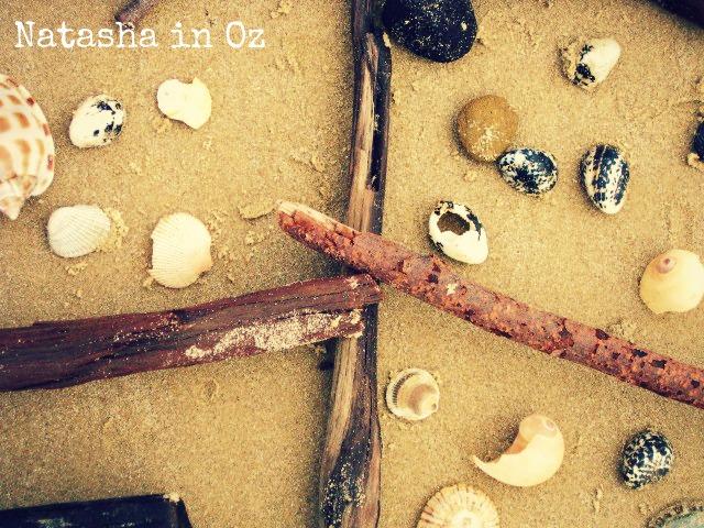 Say G'Day Linky Party, Beach Therapy, Natasha in Oz, Mooloolaba, beach image, shells
